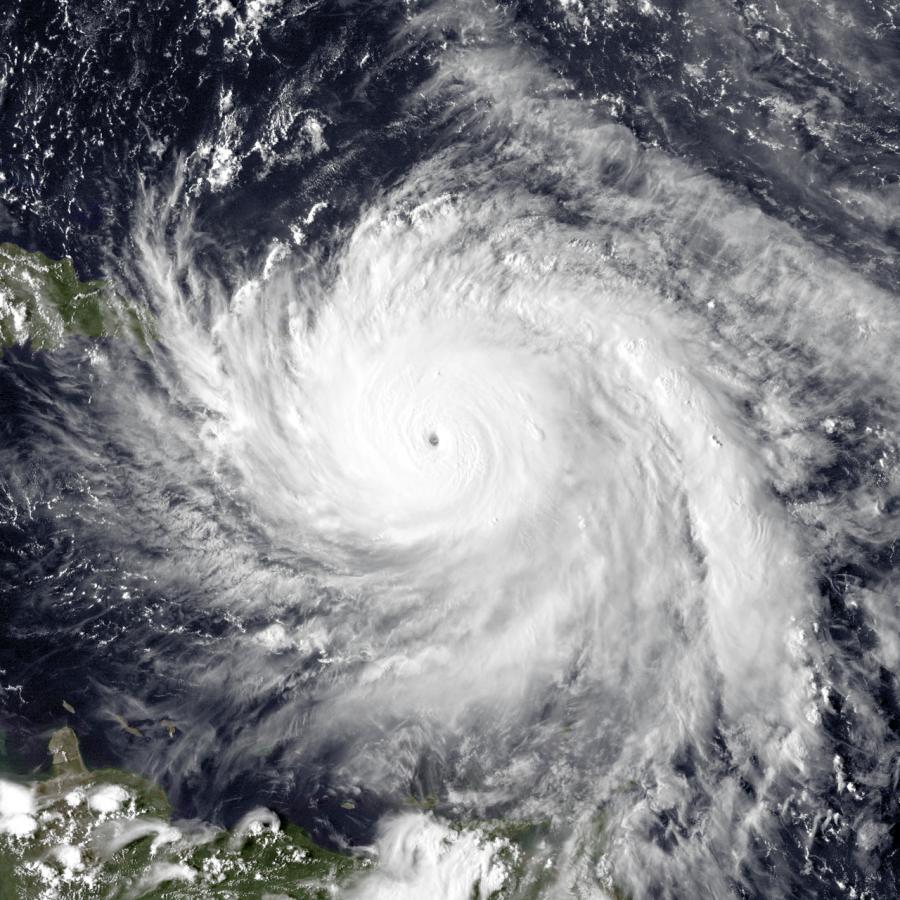 Hurricane+Maria%2C+the+strongest+hurricane+of+the+season%2C+just+north+of+Dominica.